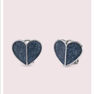Kate Spade heritage spade heart statement studs